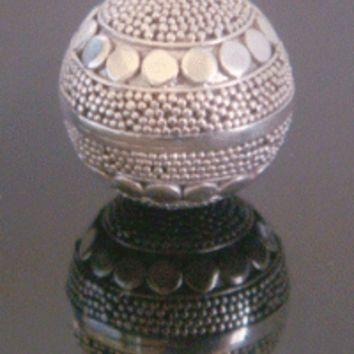 Sterling Silver Harmony Ball, Dimple Effect with Polished Discs