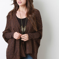 Chunky Knit Dolman High-Low Cardigan
