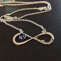 Niall Birthstone Forever Directioner Infinity Necklace One Direction 1D