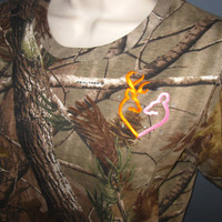 Ready to Ship Womens Large Camo Browning Deer Heart Hunting Shirt, or Made to Order