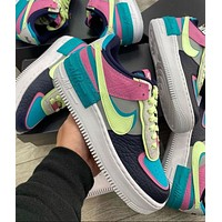 Hipgirls Nike Air Force 1 Shadow new color matching couple low-top sneakers Shoes