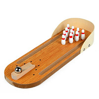 Mini Wooden Bowling Toy Table Game Kids Toy