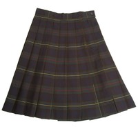 French Toast Plaid Pleated Skirt Girls Green Plaid 16