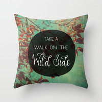 Walk on the Wild Side Throw Pillow by Olivia Joy StClaire