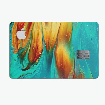 Liquid Abstract Paint V60 - Premium Protective Decal Skin-Kit for the Apple Credit Card