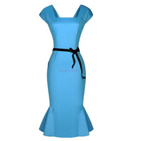Women's Dress New Knee Length Peplum Bodycon Dress Women OL Office Work Career Summer Dress Pencil Dress Plus Size SV003542|27702 = 1931493828