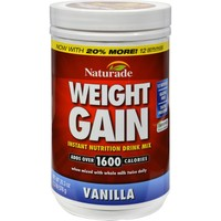 Naturade Weight Gain Vanilla - 16.93 oz
