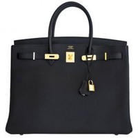 Hermes Birkin Bag 35cm Black Togo Gold Hardware | World's Best