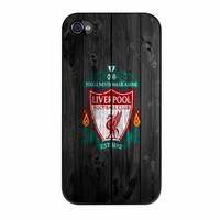 Liverpool FC Wood Style iPhone 4 Case