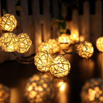 LED Holiday Party String Ball Lights