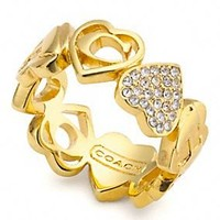 Coach - MULTI HEART PAVE RING customer reviews - product reviews - read top consumer ratings