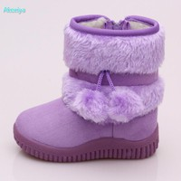 High Quality new winter children boots baby shoes girls warm shoes 5 colors 20-35 free shipping