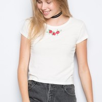 MASON ROSES EMBROIDERY TOP