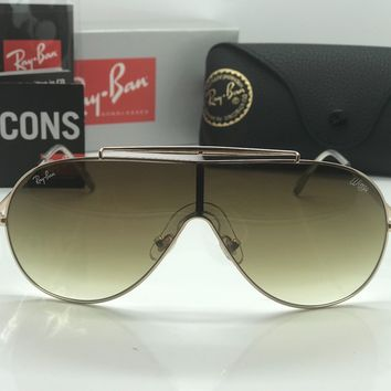 RAY-BAN WINGS SUNGLASSES RB3597 Gold/brown