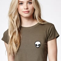 John Galt Alien Cropped Crew Neck T-Shirt at PacSun.com