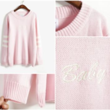 Baby Embroidered Sweater from MILK CLUB