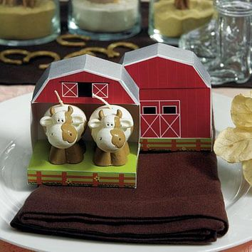 Novelty Cow Candle Country Wedding Favors (Pack of 1)