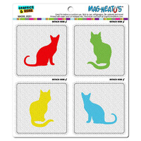 Cats Silhouettes Cute MAG-NEATO'S TM Car-Refrigerator Magnet Set