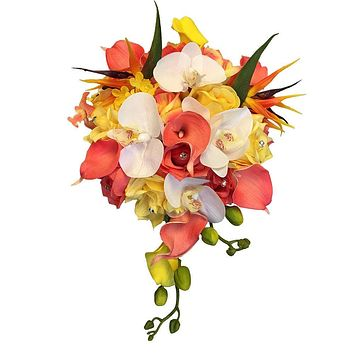 Tropical Bouquet and Boutonniere