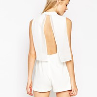 ASOS Playsuit with Chiffon Over Lay