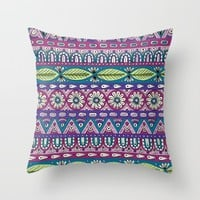 Detailed Stripes Throw Pillow by Sarah Oelerich