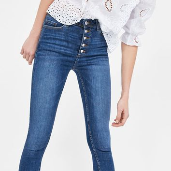 Z1975 JEANS WITH BUTTONSDETAILS