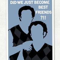 """Step Brothers Sweaters """"Did we just become best friends"""" Vector Art Print"""