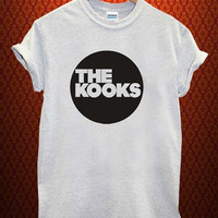 the kooks logo Music tee Ash Grey t Shirt Men and Women T Shirt more size available
