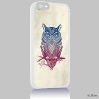 Heru - Owl Tribal Aztec Colorful for Iphone 4 4s 5 5s 5c 6 6plus Case (iphone 6 white)