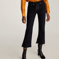 THE BOOTCUT JEANS WITH LACE-UP FLY