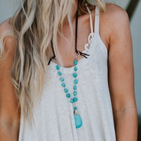 Utopia Turquoise Necklace - Turquoise