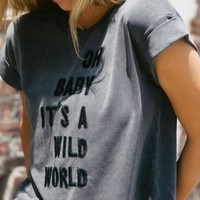 CALEIGH OH BABY IT'S A WILD WORLD EMBROIDERY TOP