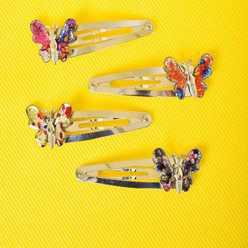 90's Butterfly Hair Clips
