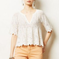 Laceswing Midi Top by Meadow Rue Ivory M Tops