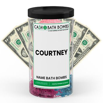 COURTNEY Name Cash Bath Bomb Tube