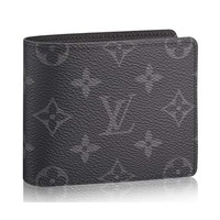 Louis Vuitton Monogram Eclipse Canvas Slender Wallets Article: M62294