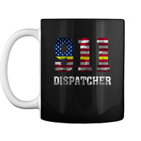 911 Dispatcher Thin Gold Line Flag Mug