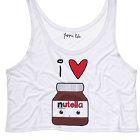 I Heart Nuttela Crop Tank Top