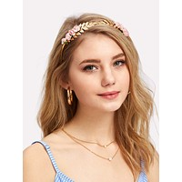Rose Decorated Headband