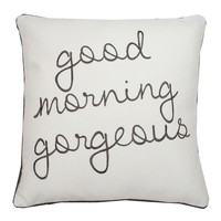 Good Morning Gorgeous Pillow - Charcoal