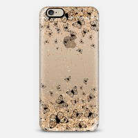 Black Butterflies and Gold Sparkles Burst iPhone 6 case by Organic Saturation | Casetify