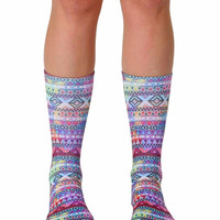 Tribal Crew Socks