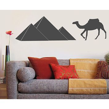 Large Vinyl Decal Wall Sticker Symbol African Continent Camel Pyramids (n821)