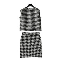 Houndstooth Top and Mini Skirt by Stylenanda