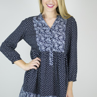 Pretty in Paisley Baby Doll Top