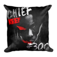 """""""300"""" (18x18) All Over Print/Dye Sublimation Chief Keef Couch Throw Pillow Insert & Pillow Case/Cover"""
