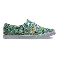 Vans Authentic Lo Pro (Ditsy Floral) Pool Green Shoes at 7TWENTY Boardshop, Inc