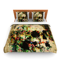 """Frederic Levy-Hadida """"Floral Skully"""" Lightweight Duvet Cover"""