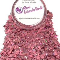 Rose Gold Pink Chunky Body and Face Festival Glitter (Large 15 Grams)