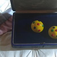 """Amazing Fun Vintage """"Mod"""" From England Psychedelic Yellow Submarine Beatles Era Bright Yellow Colored Enameled Domed Pierced Earrings 1960""""s"""